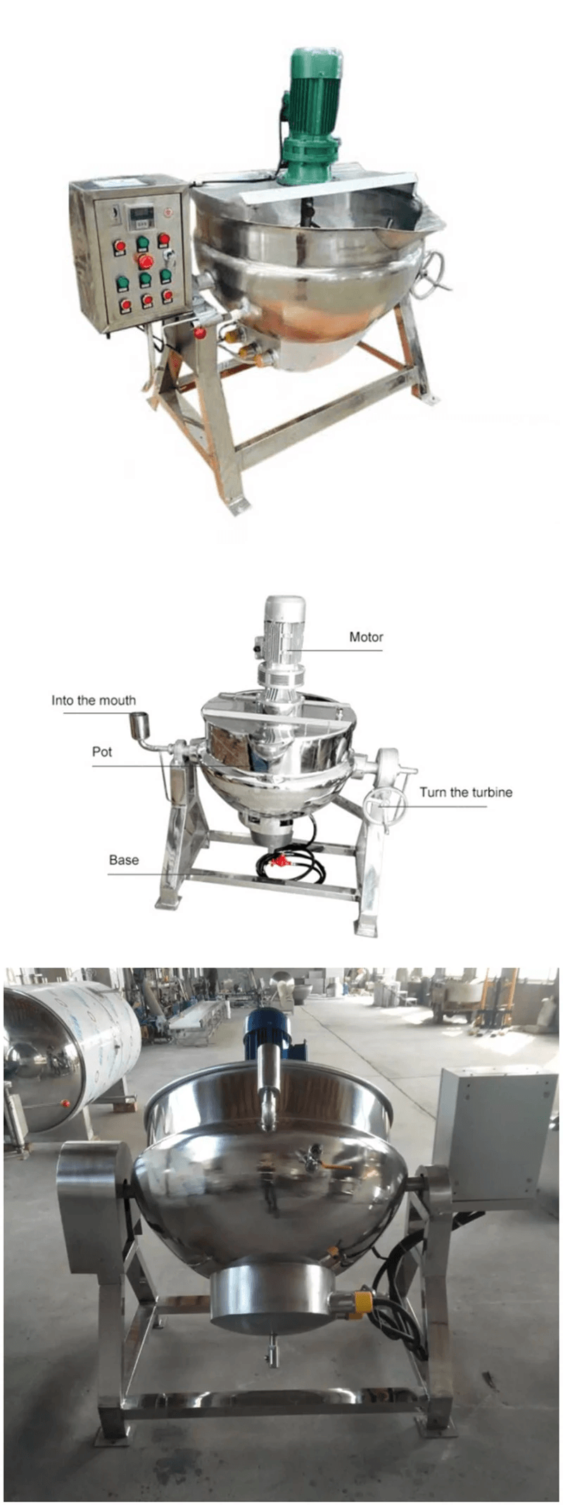 Steam Jacket Kettle 50-600L-1