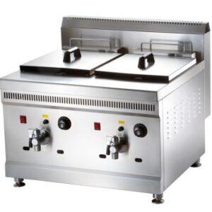 Gas Deep Fryer Double Basket (36L Capacity)