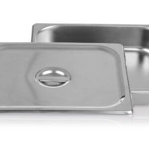 Stainless steel food pan with lid